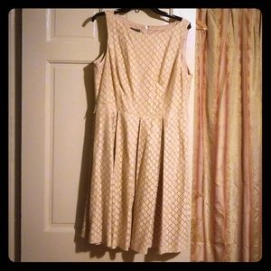 Tan cotton lace dress
